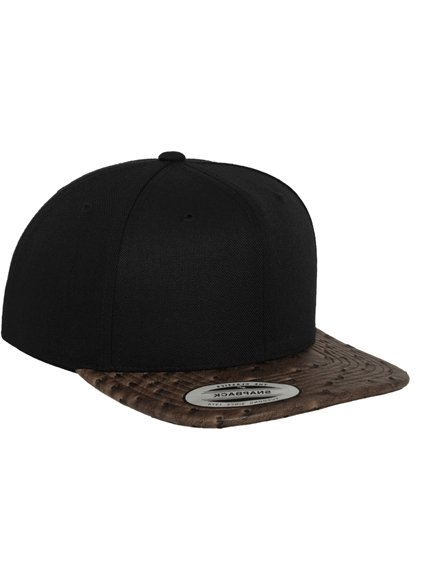 0e516256393 Yupoong Special Leather Modell 6089LH Snapback Caps in Black ...