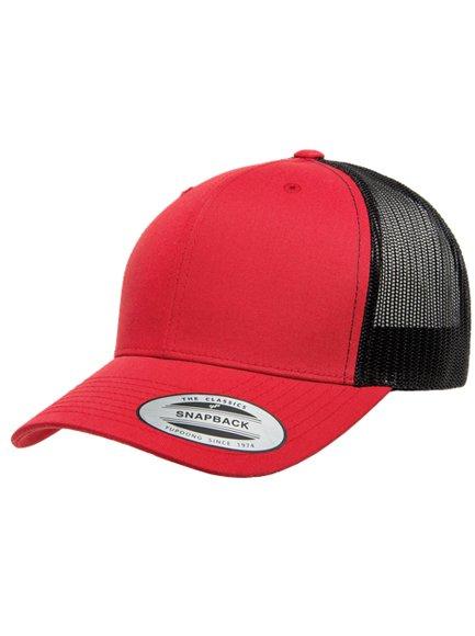 936d94b73e672 Yupoong Retro Trucker Caps in Red-Black - Trucker Cap