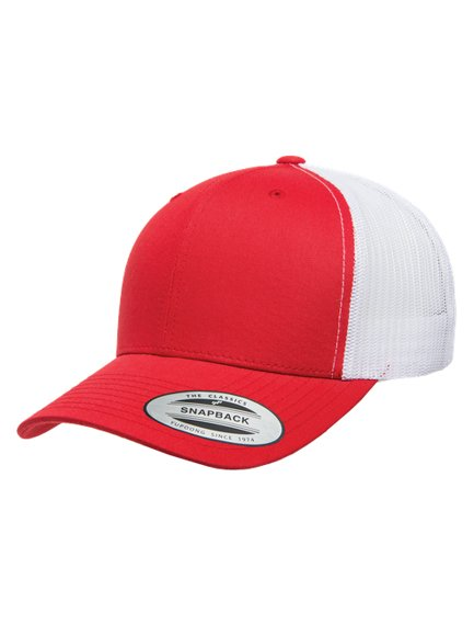 86086a0af1f59 Yupoong Retro Trucker Caps in Red-White - Trucker Cap
