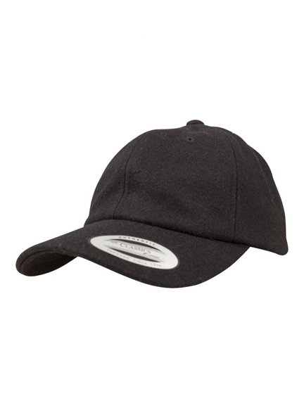 Yupoong Low Profile Melton Wool Dad Baseball Cap Baseball-Cap
