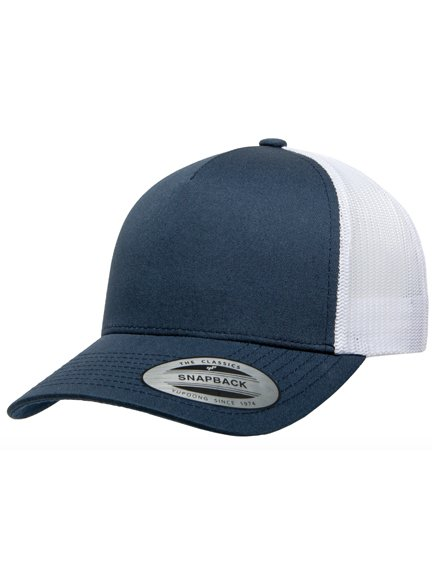 671bb6dc72a Yupoong Retro 5 Panel Modell 6506T Trucker Caps in Navyblue-White ...