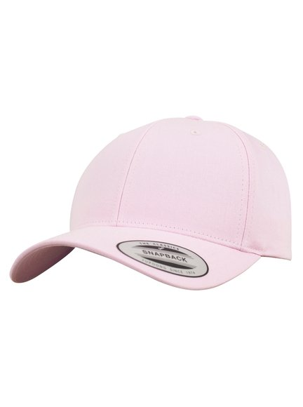 Yupoong Curved Classic Snapback Modell 7706 Baseball Caps in Pink ... f4a62eb504c