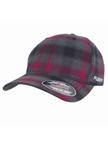Flexfit Checked Grau/Purple Baseball-Cap