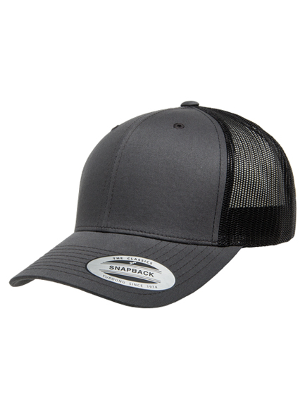 Yupoong Retro Trucker Caps in Darkgray-Black - Trucker Cap 431005d8280
